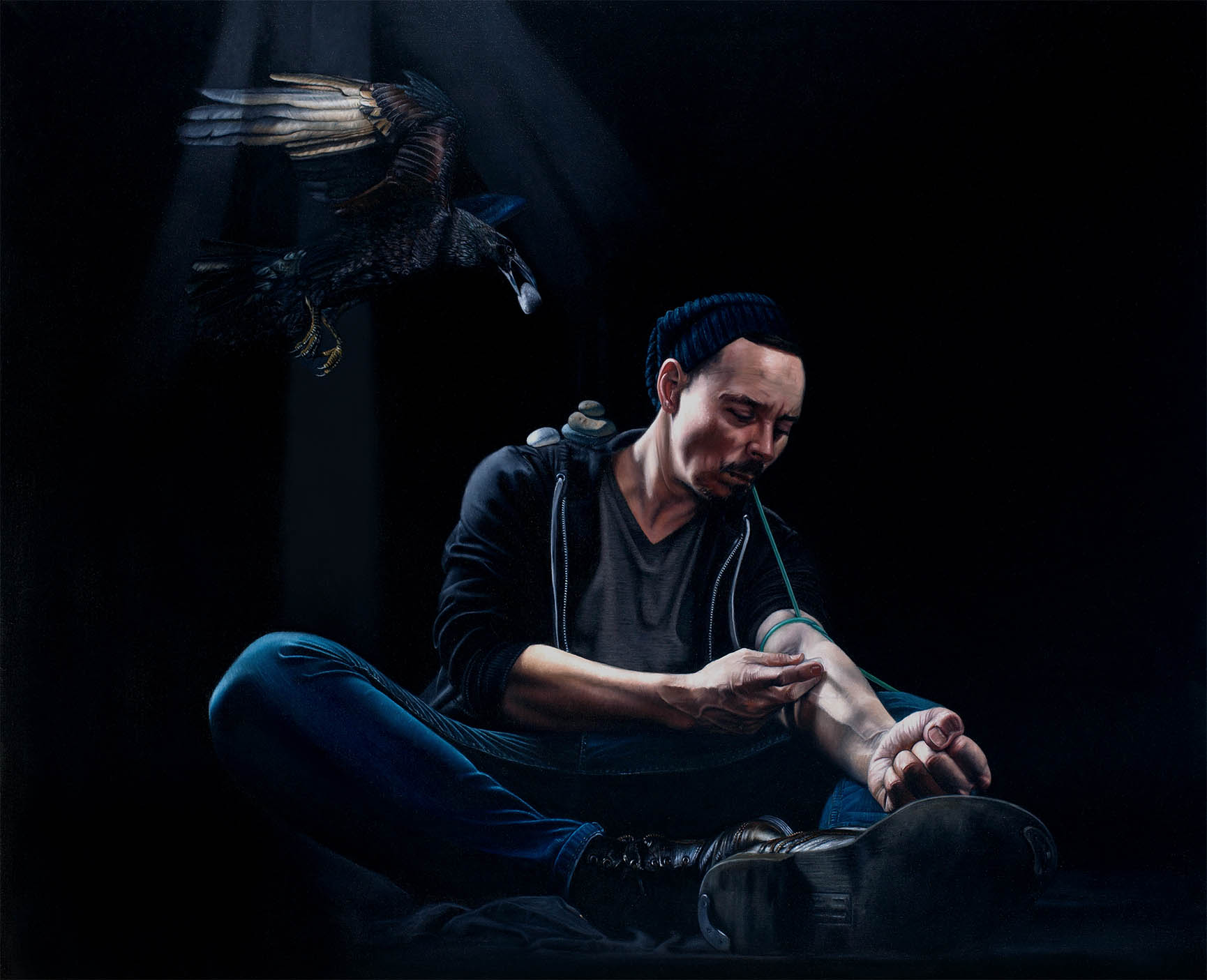 Russ Ritell, The Burial, Oil on Canvas